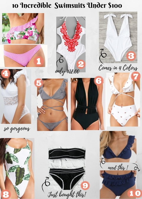 10 Incredible Swimsuits under $100