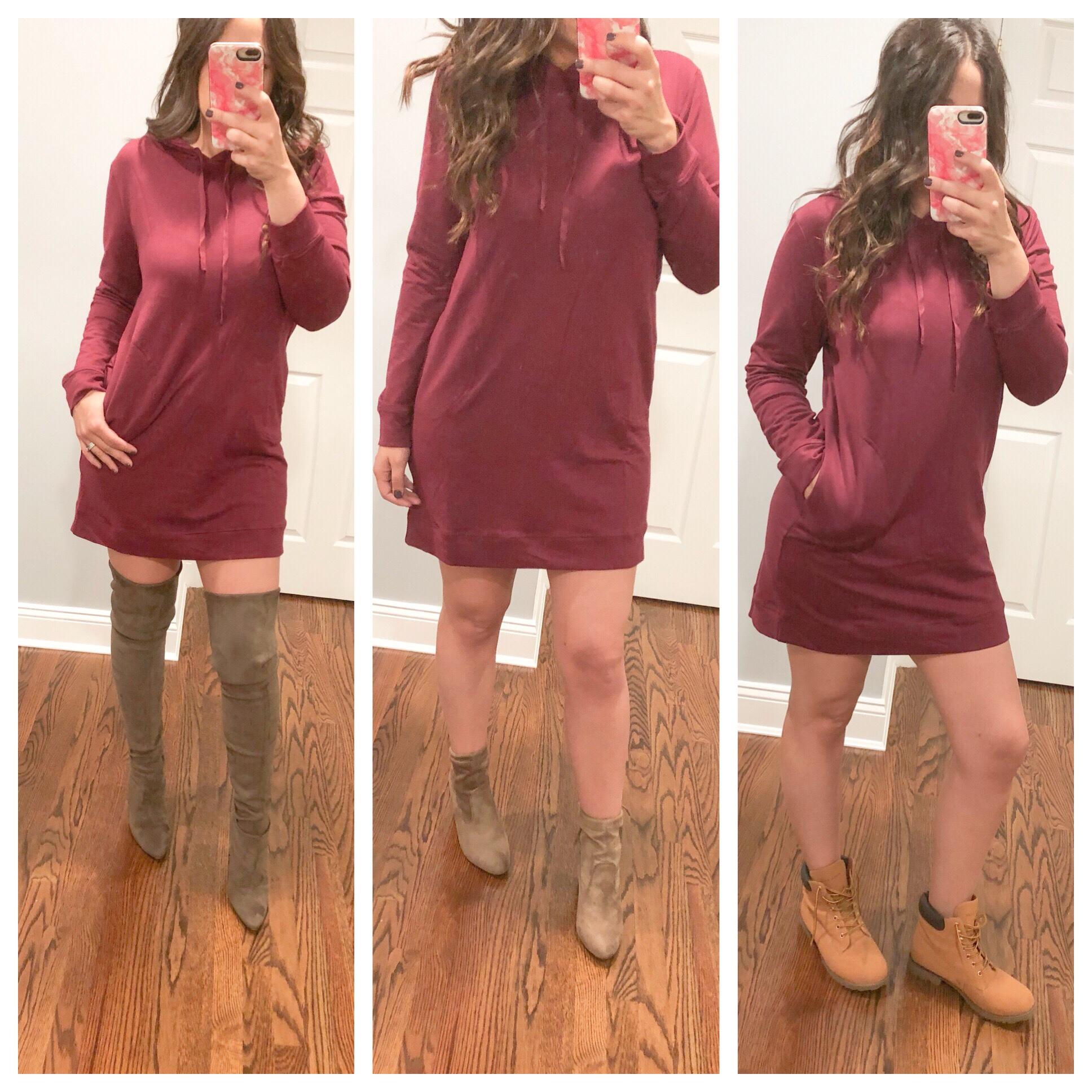 Fashion Nova Hoodie Dress